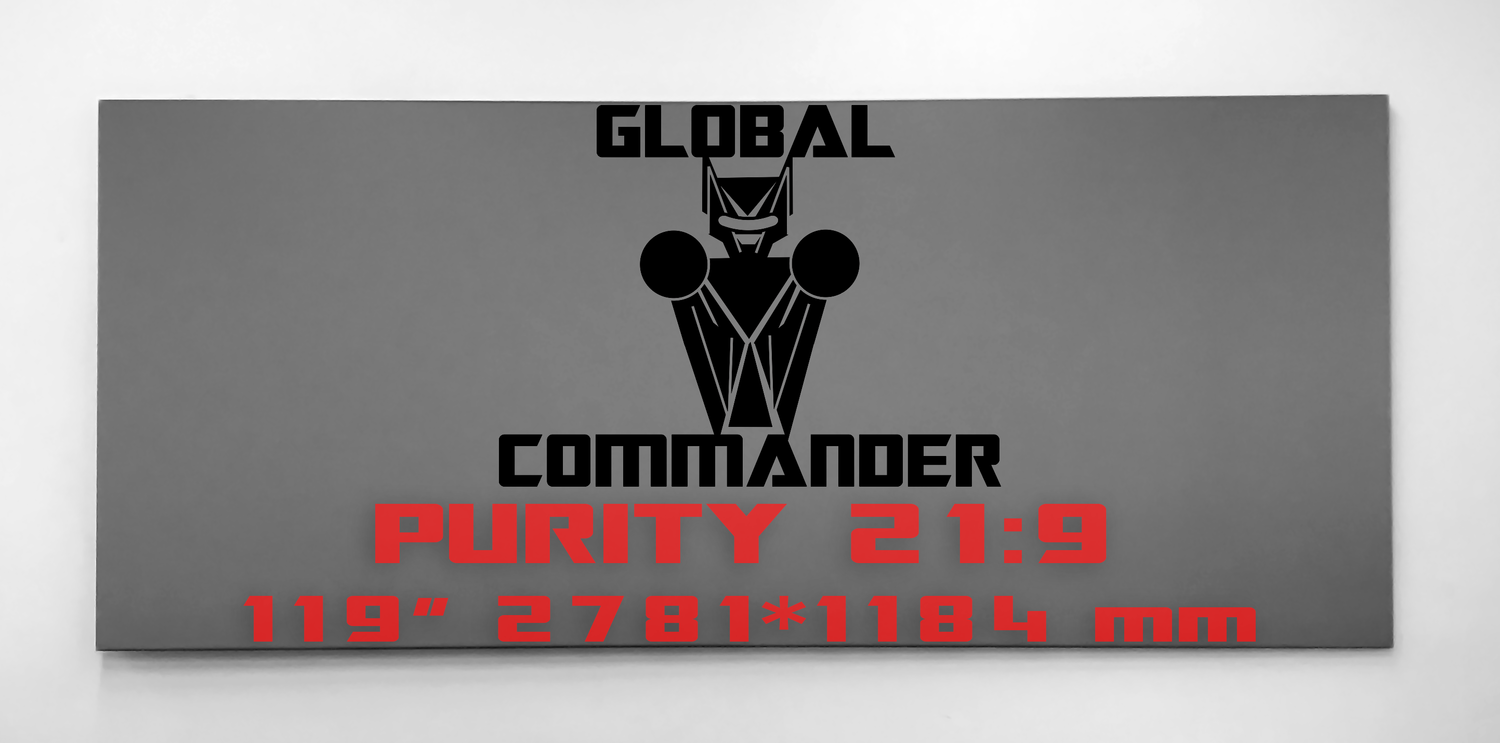 "GLOBAL COMMANDER ""PURITY"" 21:9 119"" - Schermo Videoproiettore 4K / 8K"