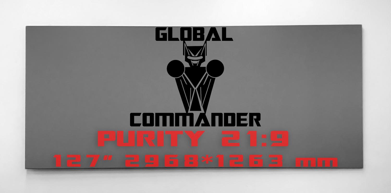 "GLOBAL COMMANDER ""PURITY"" 21:9 127"" - Schermo Videoproiettore 4K / 8K"