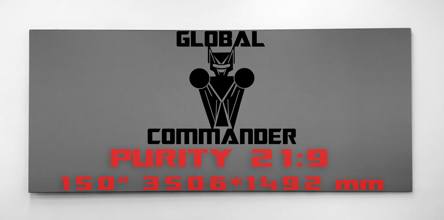"GLOBAL COMMANDER ""PURITY"" 21:9 150"" - Schermo Videoproiettore 4K / 8K"