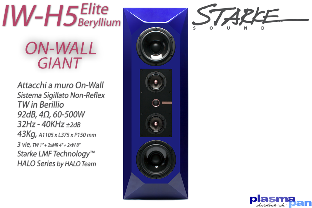STARKE SOUND IW-H5 Elite BERYLLIUM Diffusori Acustici ( casse ) [coppia] Su Muro On-Wall Reference
