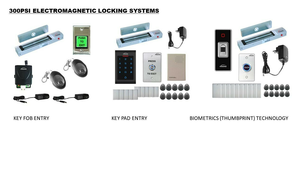 Electromagnetic Locks (bookcase doors only)