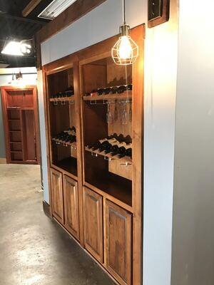 Double Wine Glass Door