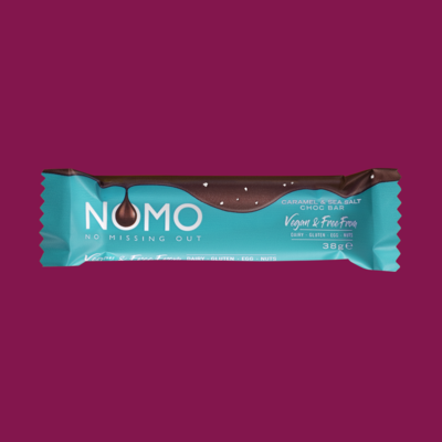 NOMO Chocolate Bar: Caramel & Sea Salt
