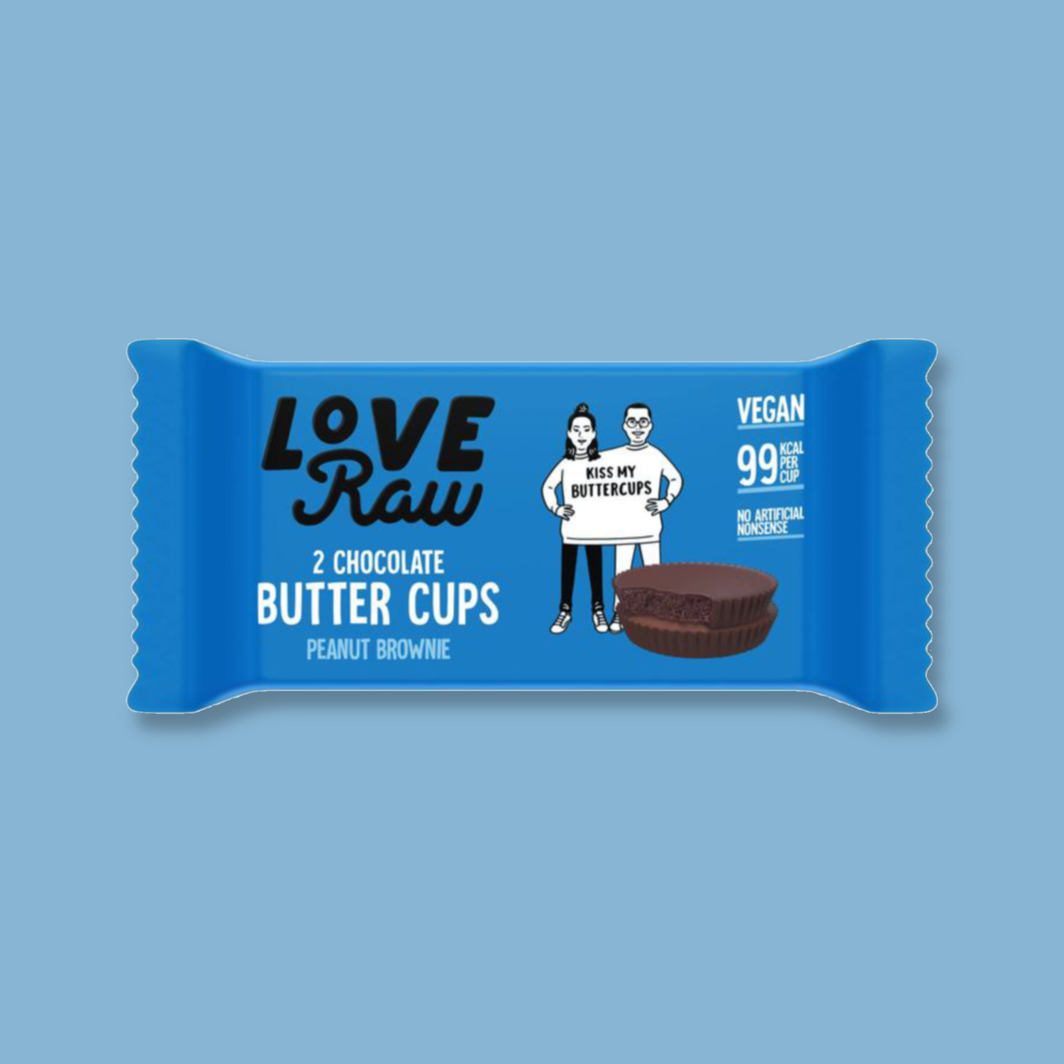LoveRaw Chocolate Butter Cups: Peanut Brownie