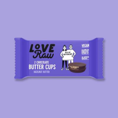 LoveRaw Chocolate Butter Cups: Hazelnut Butter