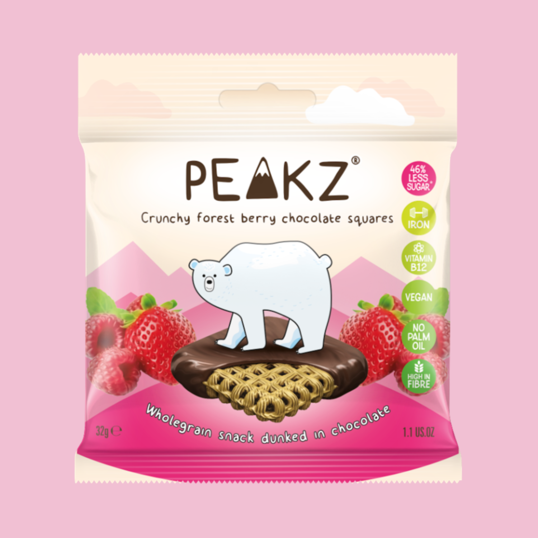 Peakz Chocolate Squares - Berry Flavour