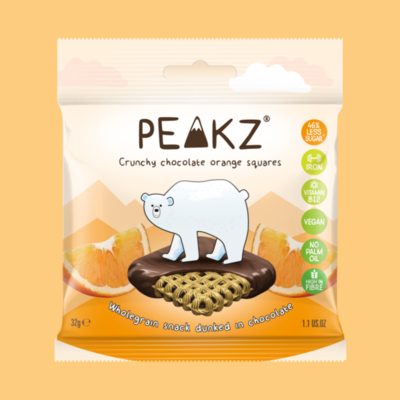 Peakz Chocolate Squares - Orange Flavour