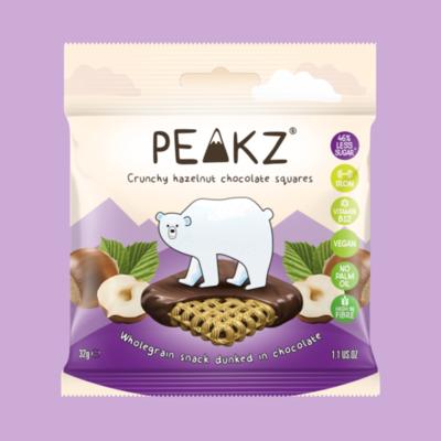 Peakz Chocolate Squares - Hazelnut Flavour