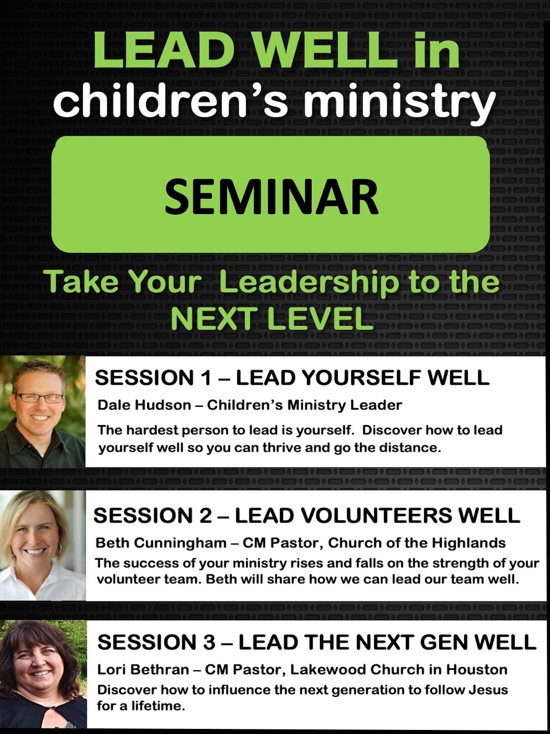 LEAD WELL in Children's Ministry Seminar