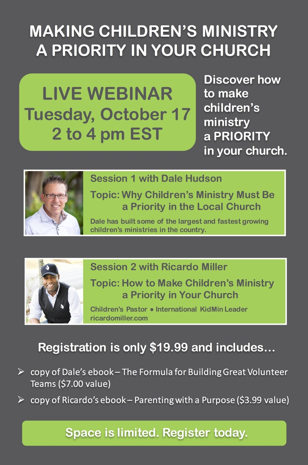 Making Children's Ministry a Priority           (Live Webinar)