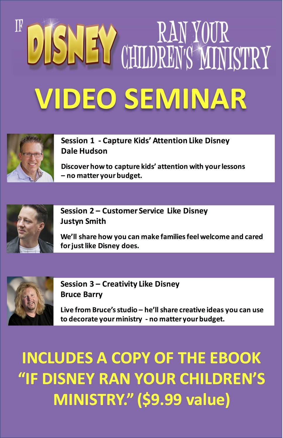 """If Disney Ran Your Children's Ministry"" Video Seminar"