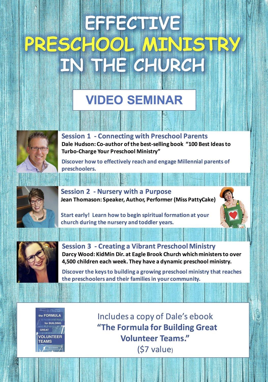 """Effective Preschool Ministry in the Church"" Video Seminar"