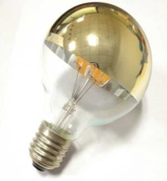 LED Filament Semi Chromed Bulb 4W G80 Non Dimmable Warm Deco Light