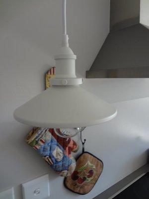 Vintage Industrial Pendant White - 21cm