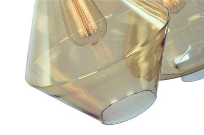 Diamond Coffee Glass Pendant