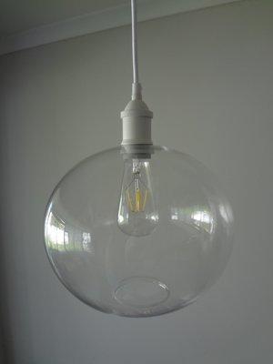 Elegant Glass Globe Pendant - Medium