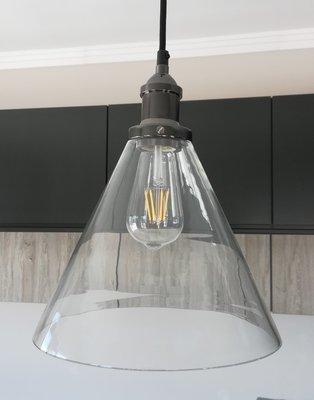 Large Glass Funnel Pendant
