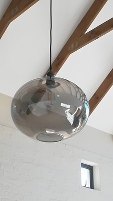 Elegant Mettalic Glass Globe Pendant - Large