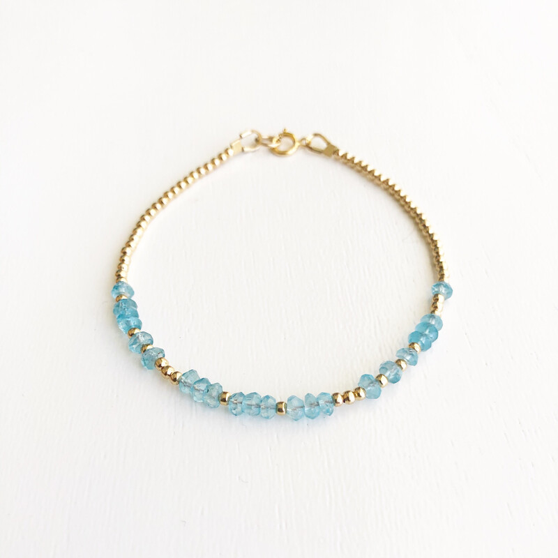 Love REEminder Bracelet - Aquamarine