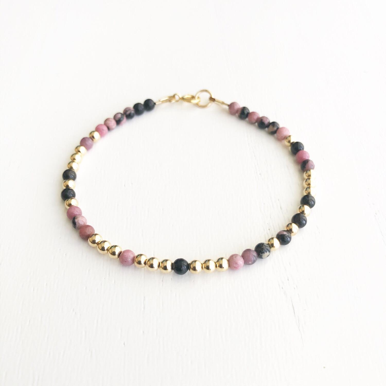 Love REEminder Bracelet - Rhodochrosite