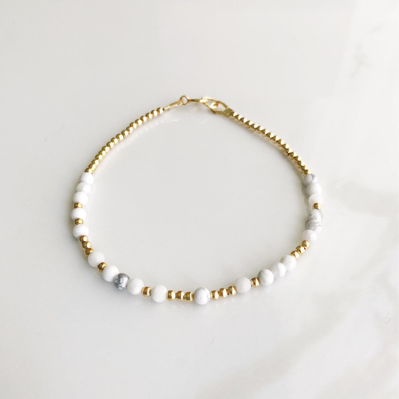 Dream REEminder Bracelet - White Howlite