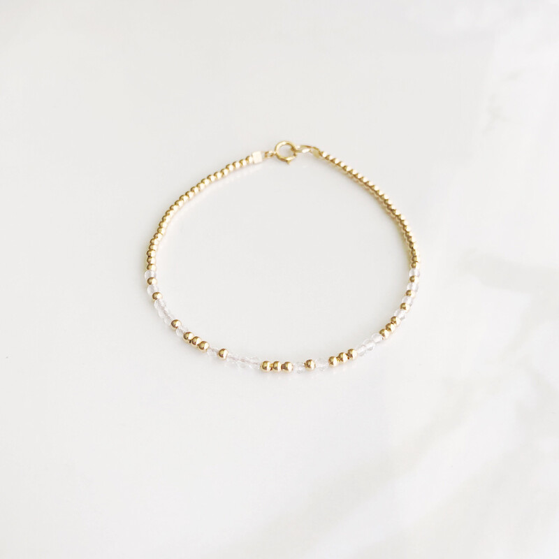 Faith REEminder Bracelet - Clear Quartz