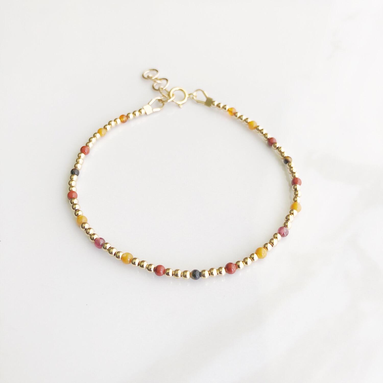 ZuREE Adjustable Bracelet - Fall (Gemstone Mix)