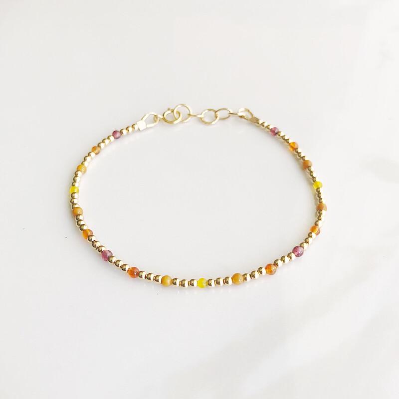 ZuREE Adjustable Bracelet - Warm (Gemstone Mix)
