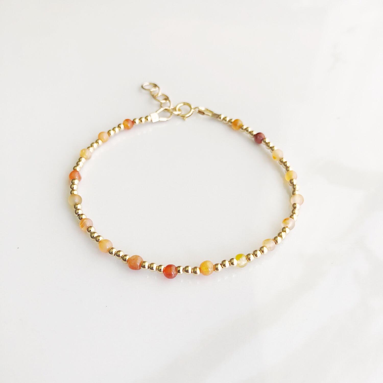 ZuREE Adjustable Bracelet - Carnelian