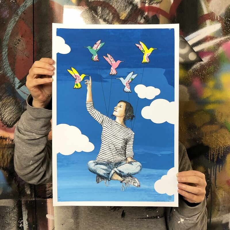 PORTRAIT D'ARTISTES 04 / Jaeraymie x ami imaginaire EPREUVE ARTISTE