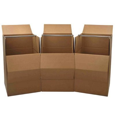 Wardrobe Boxes - 3 Boxes With Bars