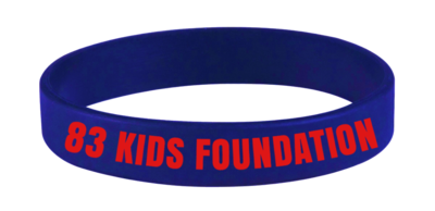 83 KIDS FOUNDATION BAND - BLUE & RED