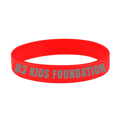 83 KIDS FOUNDATION BAND - RED & GREY