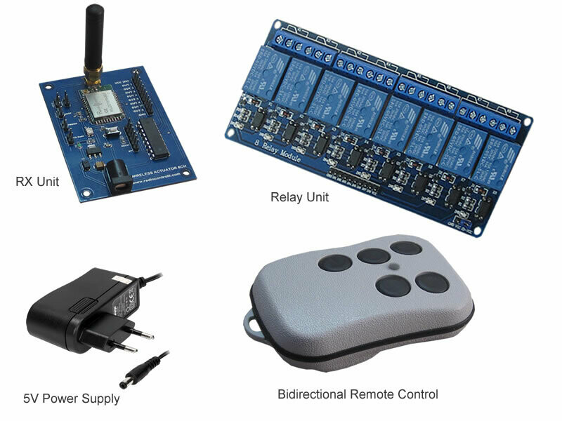 868MHz Bidirectional Remote Control 8 Channels (Essential Kit)