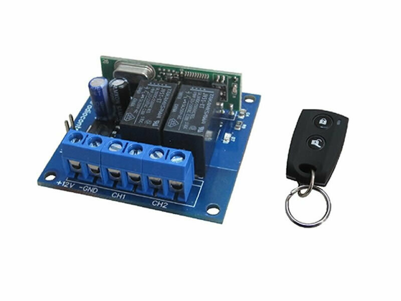 Kit 433.92MHz Receiver Board + N.2 Remote Control (RXK-2CH)