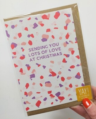 Sending you lots of love this Christmas card