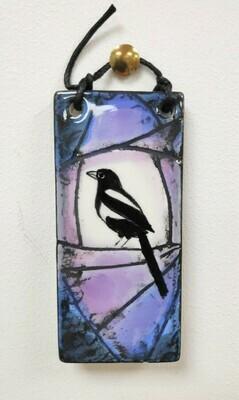 Bird ceramic hanging tile (small size)
