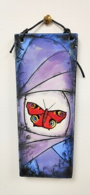 Butterfly ceramic hanging tile