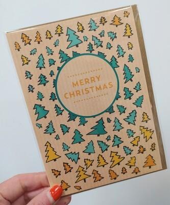 Christmas card - Christmas Trees