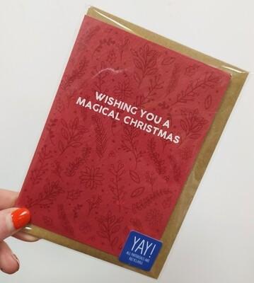 Wishing you a magical Christmas card