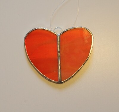 Stained glass heart - various colours available
