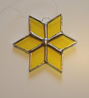 Stained glass star - various colours available
