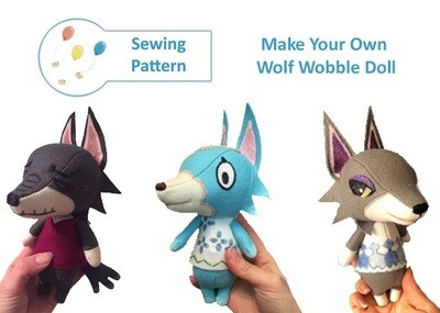 Wolf Wobble Doll Sewing Pattern