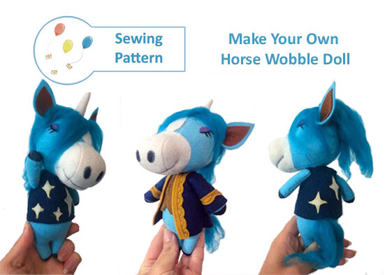 Horse Wobble Doll Sewing Pattern