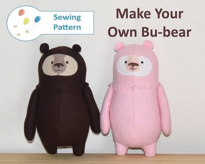 Bu-bear Teddy Bear Starter Sewing Pattern