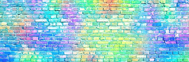 Neon Brick Green, Purple, Blue