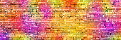 Neon Brick Yellow, Pink, Orange