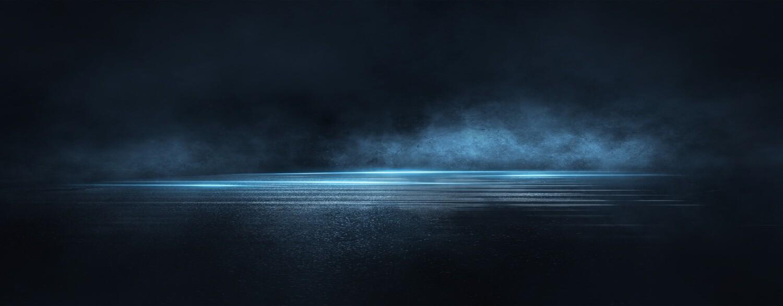 Dark Wet Asphalt Blue Smoke