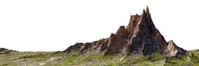 Mountain White Background