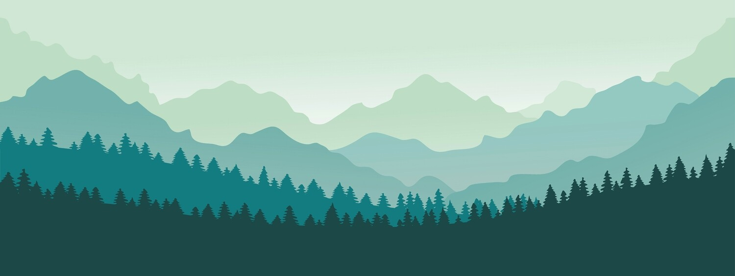 Forest Mountain Silhouette